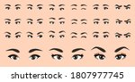 Cartoon Female Eyes Collection...
