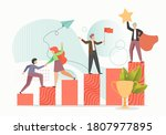 business team male and female... | Shutterstock .eps vector #1807977895