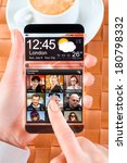 smart phone  phablet  with a... | Shutterstock . vector #180798332