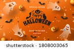 halloween sale horizontal... | Shutterstock .eps vector #1808003065