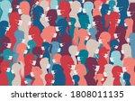 crowd group of diversity people ... | Shutterstock .eps vector #1808011135