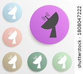 satellite dish badge color set. ...