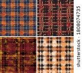 scottish tartan plaid fabric... | Shutterstock .eps vector #1808074735