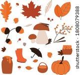 Vector Autumn Set Icons. Autumn ...