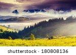 beautiful view of alpine... | Shutterstock . vector #180808136