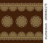 set of seamless borders pattern ... | Shutterstock .eps vector #1808082175
