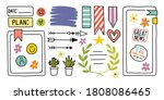 diary elements. hand drawn... | Shutterstock .eps vector #1808086465