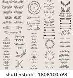 vintage ornament divider set... | Shutterstock .eps vector #1808100598