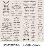 vintage ornament divider set... | Shutterstock .eps vector #1808100622