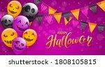 set of orange  purple and black ... | Shutterstock .eps vector #1808105815