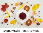 Autumn Layout With Tea And...