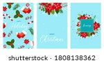 christmas and new year cute... | Shutterstock .eps vector #1808138362