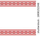 ethnic slavic embroidery... | Shutterstock . vector #1808152348
