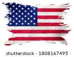 grunge usa flag. american flag... | Shutterstock . vector #1808167495