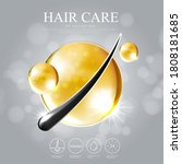 hair care treatment prevent... | Shutterstock .eps vector #1808181685
