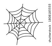 vector spider web and small...   Shutterstock .eps vector #1808185555