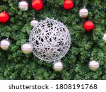 A Large Silver Wicker Ball...