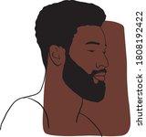 hand draw outline portrait of... | Shutterstock .eps vector #1808192422