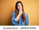 young beautiful girl wearing... | Shutterstock . vector #1808193448