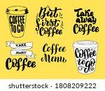 coffee lettering phrases set.... | Shutterstock .eps vector #1808209222
