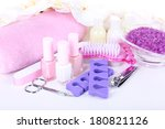pedicure set isolated on white | Shutterstock . vector #180821126