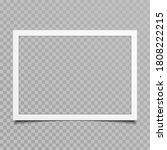 blank photo frames with shadow... | Shutterstock . vector #1808222215