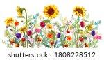 horizontal autumn s border ... | Shutterstock .eps vector #1808228512