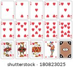 playing cards heart suit  joker ... | Shutterstock . vector #180823025