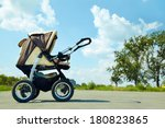 Baby Stroller On A Walk In The...