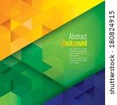 vector geometric background in... | Shutterstock .eps vector #180824915