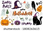 set of halloween vector clip...   Shutterstock .eps vector #1808263615