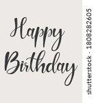 Happy Birthday Lettering....