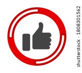 like thumbs up symbol icon....