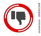 dislike thumbs down symbol icon....