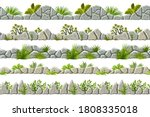 set of seamless old gray border ... | Shutterstock .eps vector #1808335018
