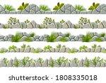 set of seamless old gray border ... | Shutterstock .eps vector #1808335018