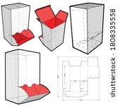 dispenser box and die cut... | Shutterstock .eps vector #1808335558