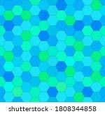 blue honeycomb mosaic. seamless ... | Shutterstock .eps vector #1808344858