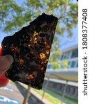 Small photo of Meteorite Olivine Extraterrestre Alien meteorite soleil sun kenya space rare golden dore see through unique beautiful sky ciel pierre celeste celestial
