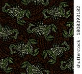 seamless pattern with scorpions ...   Shutterstock .eps vector #1808393182
