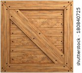 Wooden Crate Texture. Isolated...