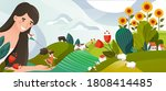 summer memory concept vector... | Shutterstock .eps vector #1808414485
