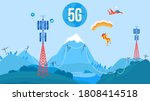 5g antenna tower communication... | Shutterstock .eps vector #1808414518