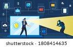data protection vector...   Shutterstock .eps vector #1808414635