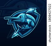 fish mascot logo esport... | Shutterstock .eps vector #1808427022