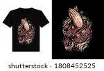 pray hard illustration t shirt...   Shutterstock .eps vector #1808452525