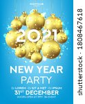 happy new year party flyer.... | Shutterstock .eps vector #1808467618