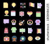 peace icon design vector... | Shutterstock .eps vector #1808486155