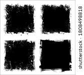 set of four black grunge square ...   Shutterstock . vector #1808498818