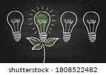green energy light bulb chalk... | Shutterstock .eps vector #1808522482